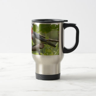 Red-crested Cardinal Travel Mug
