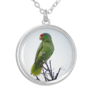 Red Crested Parrot Necklace