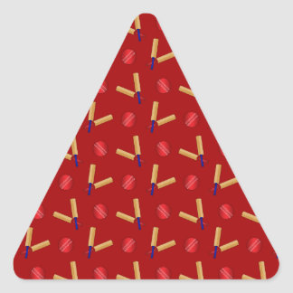Red cricket pattern triangle stickers
