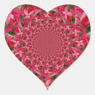 Red Crimson Heart Sticker