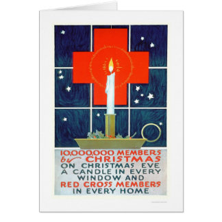 Red Cross Christmas Recruiting Poster (US00206) Greeting Card