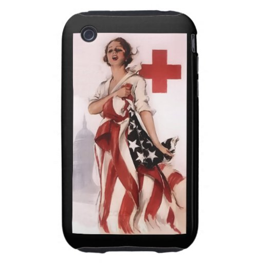 Red Cross Girl ~ World War I Poster ~ 1917 Tough iPhone 3 Cases