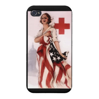 Red Cross Girl ~ World War I Poster ~ 1917 Case For The iPhone 4
