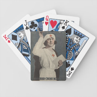 Red Cross Nurse Bicycle Playing Cards
