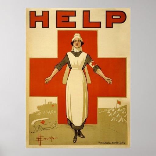 Red Cross Print
