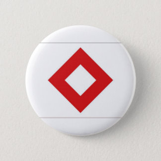 Red Cross Red Crystal Flag 6 Cm Round Badge