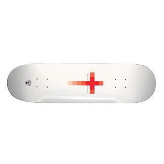 Red Cross Skate Board Deck