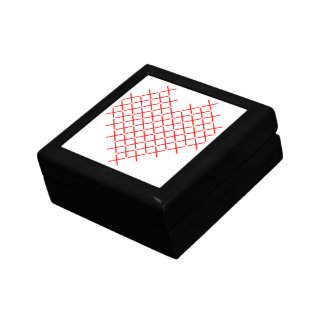 Red cross stitch heart gift box