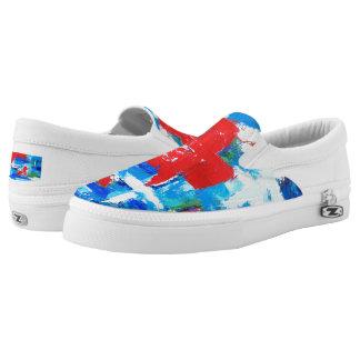 Red Cross Unisex Slip On Sneakers