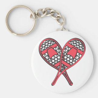 Red Crossed Snowshoes Key Ring
