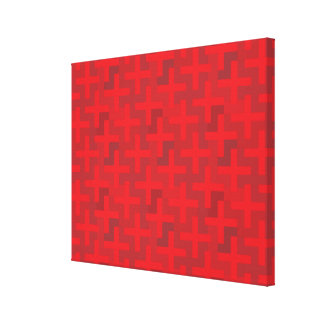 Red Crosses Stretched Canvas Print