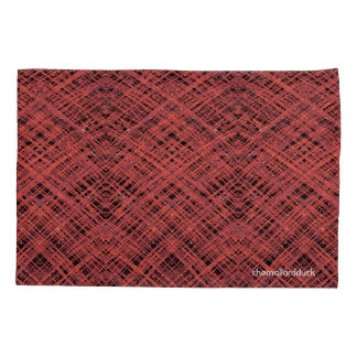 Red Crosshatch Pillow Case