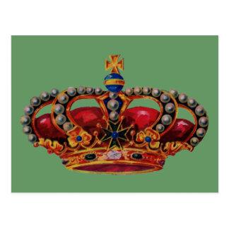 red crown postcard