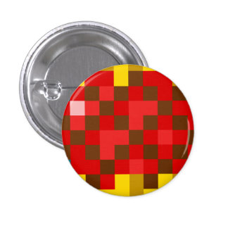 Red Crystal 3 Cm Round Badge