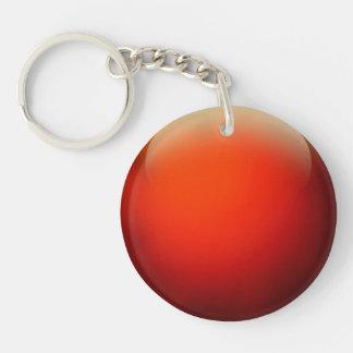 Red Crystal Ball Key Ring