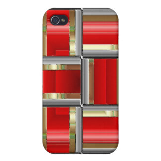 Red Cubed  iPhone 4/4S Cover
