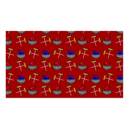 red curling pattern business card template