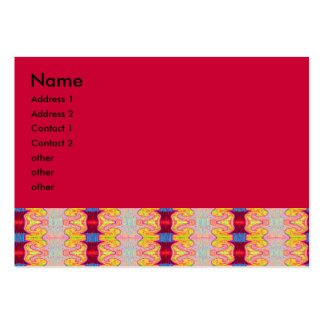 red curls business card templates