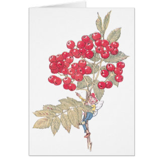 Red Currant Berries and Fairy Card