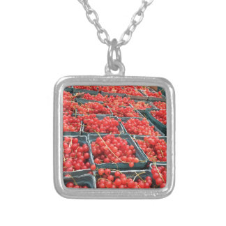 Red Currants from Union Square Silver Plated Necklace
