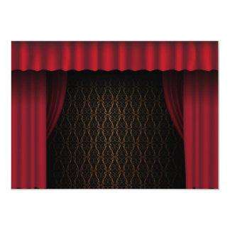 Red Curtain 13 Cm X 18 Cm Invitation Card