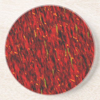 Red Curtain Abstract Coaster