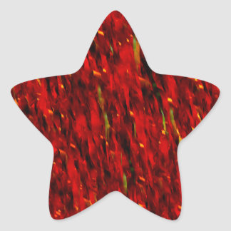 Red Curtain Abstract Star Sticker