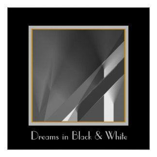 Red Curtain in Black and White Poster