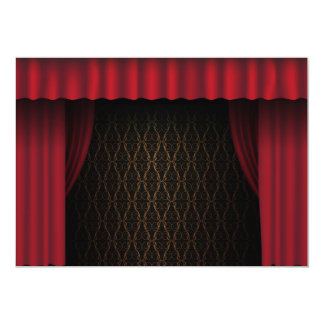 Red Curtain 5x7 Paper Invitation Card
