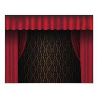 Red Curtain 11 Cm X 14 Cm Invitation Card