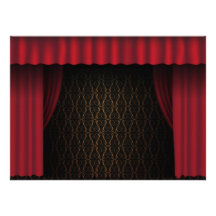 Red Curtain Personalized Announcement