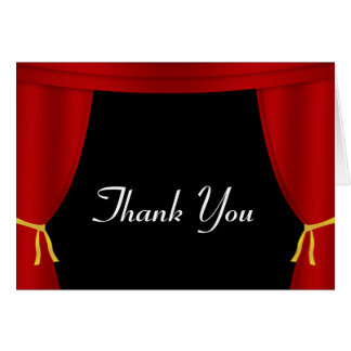 Red Curtain Thank You Card