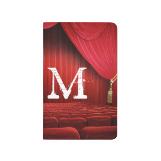 Red Curtain Theater Monogram Initial Journal