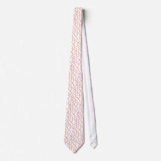 Red Curvy Stripes Tie