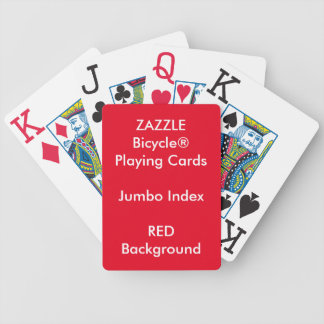 RED Custom Bicycle® Jumbo Index Playing Cards