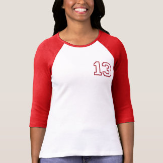 Red CUSTOMIZABLE Varsity 13th BIRTHDAY Tee