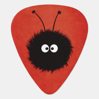 Red Cute Fluffy Dazzled Bug Guitar Pick