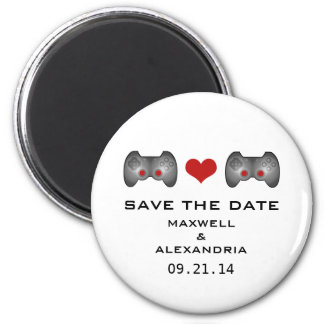 Red Cute Gamer Save the Date Magnet