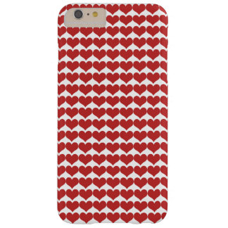 Red Cute Hearts Pattern BT iPhone 6 Plus Case