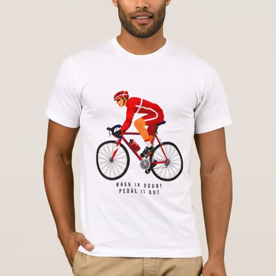 Red Cyclist & Bicycle | T-shirt