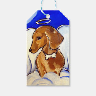 Red Dachshund Angel Gift Tags