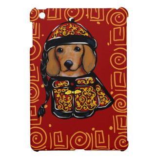 Red Dachshund Dog of the Year Cover For The iPad Mini