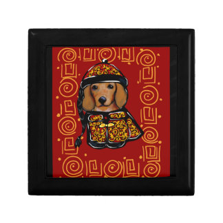 Red Dachshund Dog of the Year Gift Box