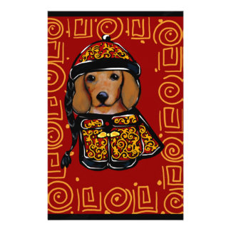 Red Dachshund Dog of the Year Stationery