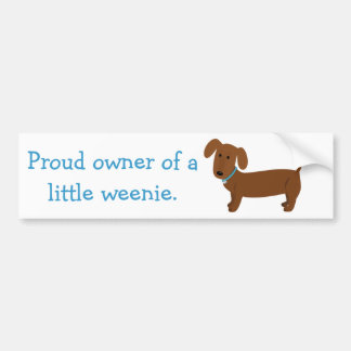 Red Dachshund Owner Funny Bumper Sticker