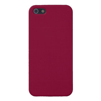 Red Dahlia Brick Maroon Burgundy 2015 Color Trend iPhone 5 Cover