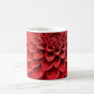 Red Dahlia Flower Coffee Mug