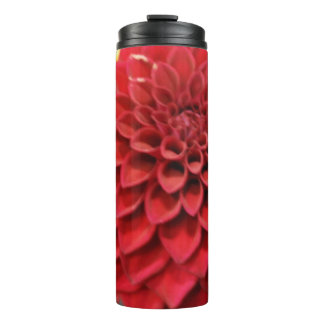 Red Dahlia Flower Thermal Tumbler