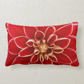 Red Dahlia Lumbar Pillow
