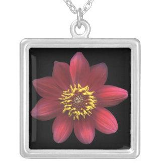Red Dahlia Necklace